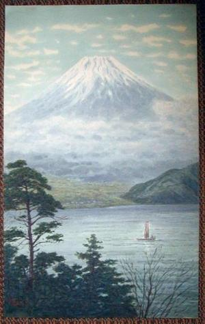 Yokouchi_kiyoharu No_series Fuji_and_lake_with_sailboat 00040069 040612 F06 on Sailboat Art