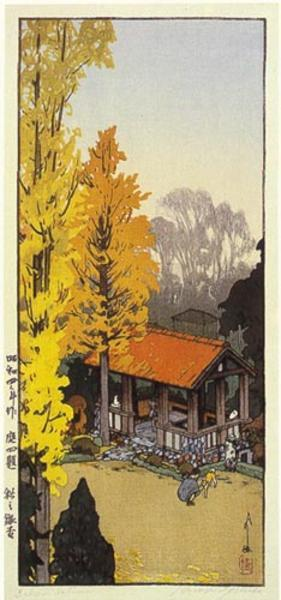 吉田博: Icho in Autumn - Japanese Art Open Database