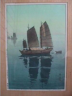 吉田博: Sailing Boats- Forenoon - Japanese Art Open Database
