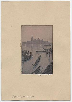 Yoshida Hiroshi: Evening in Venice - Japanese Art Open Database