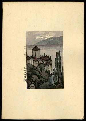 Yoshida Hiroshi: Old Town in Ceylon - Evening — シロンの古? - Japanese Art Open Database