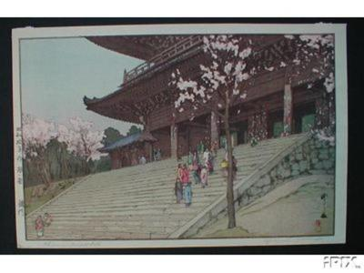 Yoshida Hiroshi: Chion-in Temple Gate - Japanese Art Open Database