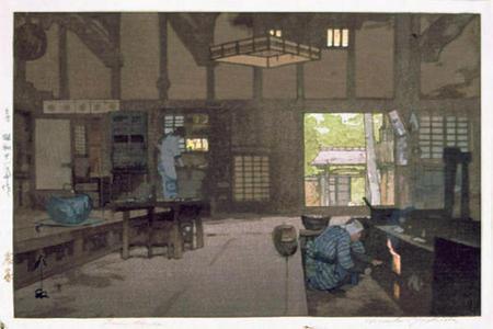 吉田博: Farmhouse - Japanese Art Open Database