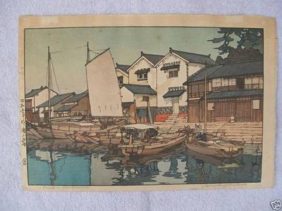 吉田博: Kura Tomonoura - Japanese Art Open Database
