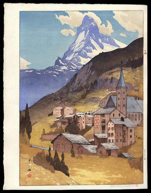 吉田博: Matterhorn - Day - Japanese Art Open Database
