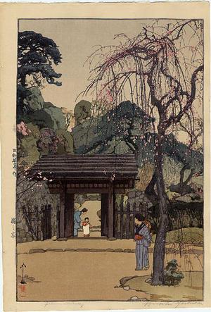 Yoshida Hiroshi: Plum Gateway - Japanese Art Open Database