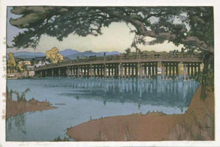 吉田博: Seta Bridge - Japanese Art Open Database