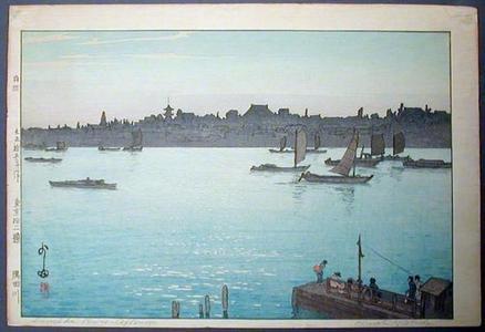吉田博: Sumida River - Afternoon - Japanese Art Open Database