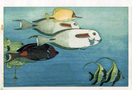 吉田博: The Honolulu Aquarium - Japanese Art Open Database