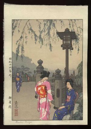 吉田遠志: Benkei Bridge - Japanese Art Open Database