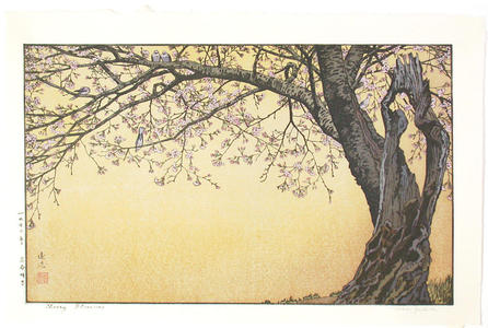 吉田遠志: Cherry Blossoms - Japanese Art Open Database