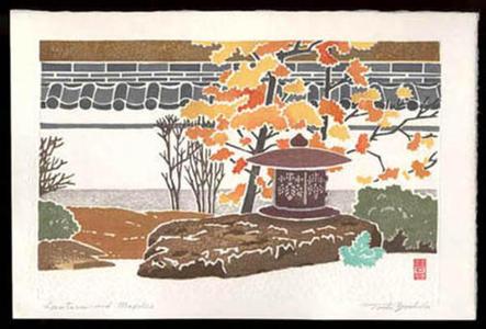 吉田遠志: Lanterns and Maples - Japanese Art Open Database