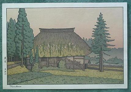 Yoshida Tsukasa: Farmhouse - Japanese Art Open Database