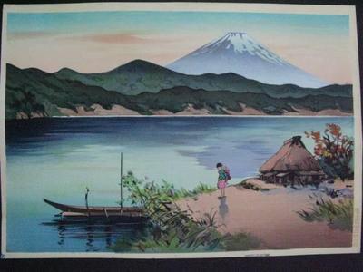 前田政雄: Lake Shore in the Morning — 湖畔の朝 - Japanese Art Open Database
