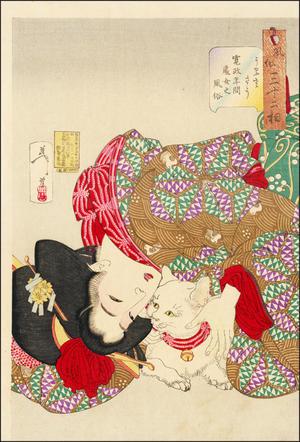 月岡芳年: Looking Tiresome - Japanese Art Open Database
