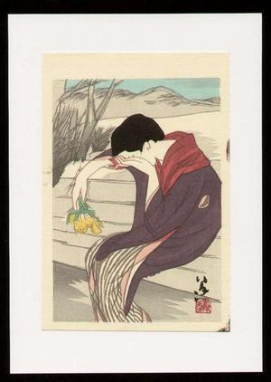 竹久夢二: A Sad Woman - Japanese Art Open Database