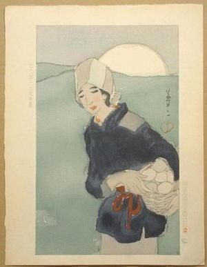 竹久夢二: The Rising Moon — 月の出 - Japanese Art Open Database