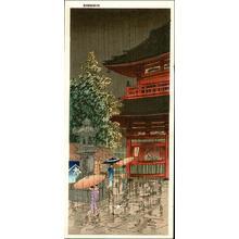 Akiyo: Asakusa Temple - Japanese Art Open Database