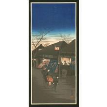 Akiyo: Evening Street Scene - Japanese Art Open Database