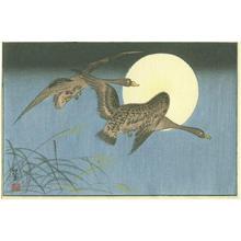 Akiyo: Two Geese - Japanese Art Open Database