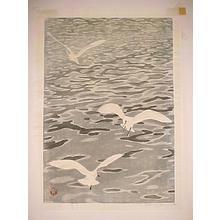 Aoyama Masaharu: Seagulls - Japanese Art Open Database