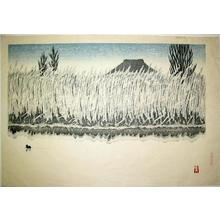 Aoyama Masaharu: Unknown, pond, reeds bird - Japanese Art Open Database