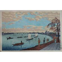 藤島武二: Early Spring at Sumida River — 隅田川初秋 - Japanese Art Open Database