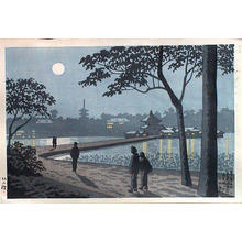 藤島武二: Shinobazu Pond Moonlight — 不忍池月明 - Japanese Art Open Database