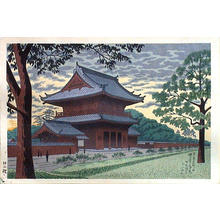 藤島武二: Twilight at Zojoji Temple — 増上寺暮色 - Japanese Art Open Database