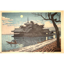 Fujishima Takeji: Wakano-ura in Moonlight - Japanese Art Open Database