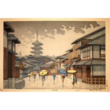 Fujishima Takeji: Yasaka Pagoda - Japanese Art Open Database