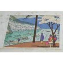 Fujishima Takeji: Arashiyama in Spring- koban - Japanese Art Open Database