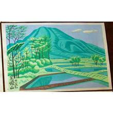 Fujishima Takeji: Unknown Field Scene- Joshinetsu series - Japanese Art Open Database
