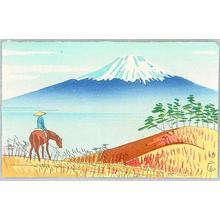 Fujishima Takeji: Taken from Lake Ashinoko, Hakone - Japanese Art Open Database