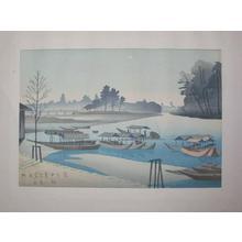 Fujishima Takeji: Arashiyama Moonlight — 嵐山月明 - Japanese Art Open Database
