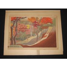 Fujishima Takeji: Tsutenbashi Autumn Scenery — 通天橋秋色 - Japanese Art Open Database