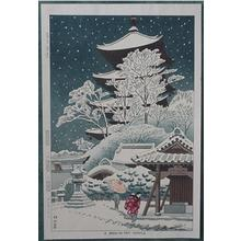 藤島武二: A Snow in Toji Temple - Japanese Art Open Database