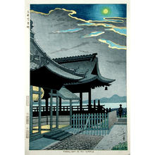 Fujishima Takeji: Moonlight in Mii Temple - Japanese Art Open Database