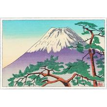 Fujishima Takeji: Mt Fuji and Pine - Japanese Art Open Database