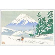 藤島武二: Mt Fuji and Traveller - Japanese Art Open Database