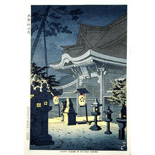 藤島武二: Night Scene of Kitano Shrine - Japanese Art Open Database