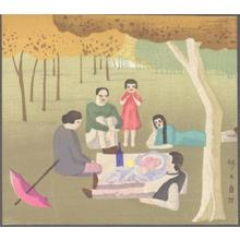 藤島武二: Picnic (After a French painting) - Japanese Art Open Database