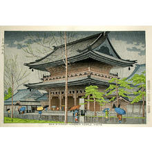 藤島武二: Rain in Higashi-Honganji - Japanese Art Open Database