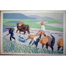 Fujishima Takeji: Rice Transplantation - Japanese Art Open Database