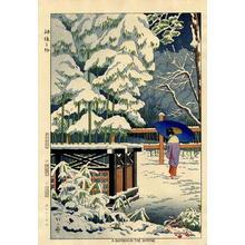 Fujishima Takeji: Snow Scene - Bamboo in the Shrine - Japanese Art Open Database