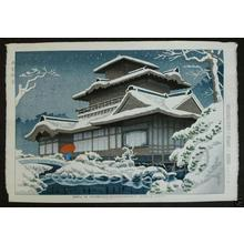 藤島武二: Snow at Hiunkaku, Nishihonganji Temple, Kyoto - Japanese Art Open Database