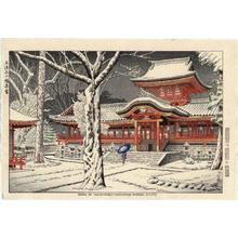Fujishima Takeji: Snow at Iwashimizu-Hachiman Shrine, Kyoto - Japanese Art Open Database