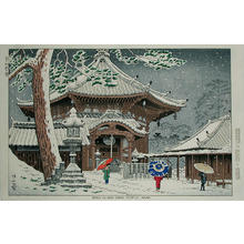 Fujishima Takeji: Snow at Nan-endo Temple - Japanese Art Open Database