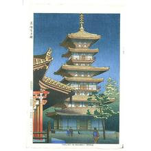 藤島武二: Twilight in Yakushiji Temple - Japanese Art Open Database