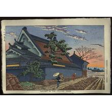 Fujishima Takeji: Twilight in the Village, Nara - Japanese Art Open Database